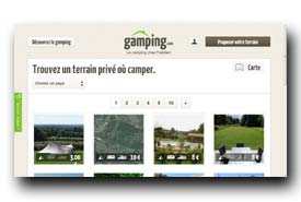 screenshot de www.gamping.com