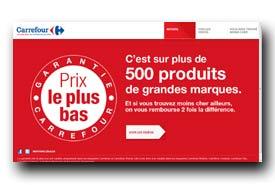 screenshot de www.garantieprixleplusbas.carrefour.fr