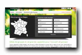 screenshot de www.gitedegroupe.fr