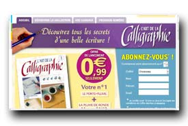screenshot de www.hachette-collections.com/loisirs/l-art-de-la-calligraphie/votre-numero-1/index.htm