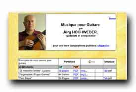 screenshot de www.hochweber.ch/guitare.htm