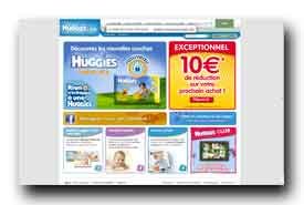 screenshot de www.huggies.fr