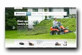 screenshot de www.husqvarna.com/fr