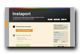 screenshot de www.instaport.me