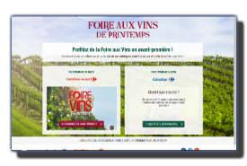 screenshot de www.jereservemafoireauxvins.fr
