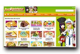 screenshot de www.jeux2cuisine.fr