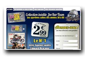 screenshot de www.collection-joebarteam.com