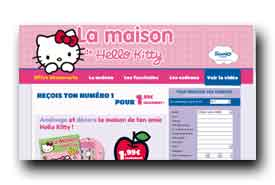 screenshot de www.lamaisondehellokitty.fr
