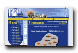 screenshot de www.leader-fioul.com