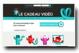 screenshot de www.lecadeauvideo.fr