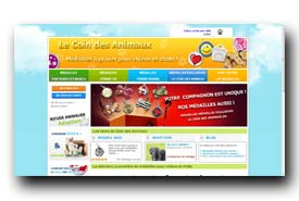 screenshot de www.le-coin-des-animaux.fr