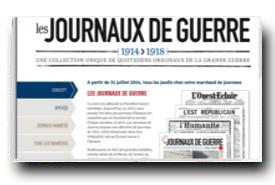 screenshot de www.lesjournauxdeguerre.fr