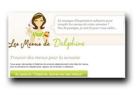 screenshot de www.lesmenusdedelphine.com