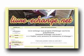 screenshot de www.livre-echange.net