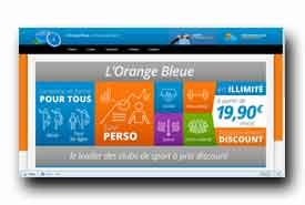 screenshot de www.lorangebleue.fr