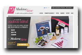 screenshot de www.madameaime.com