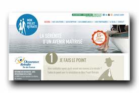 screenshot de www.monprojetretraite.fr