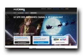 screenshot de www.mycanal.fr