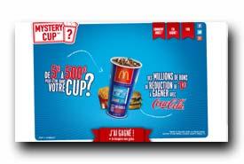 screenshot de www.mcdonalds-mysterycup.fr