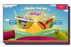 screenshot de www.kelloggs.fr/bol