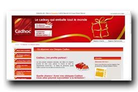 screenshot de www.cheque-cadhoc.com/depenser-cheque-cadeau-cadhoc.html