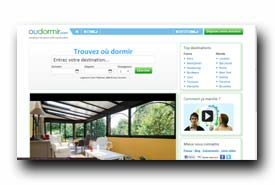 screenshot de www.oudormir.com