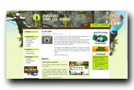 screenshot de www.parcours-dans-les-arbres.com