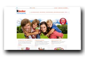 screenshot de parents.kinder.com/site/fr_FR