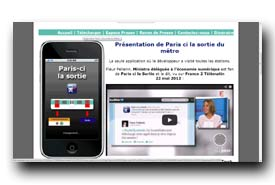 screenshot de www.paris-cilasortiedumetro.fr
