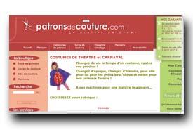 screenshot de www.patronsdecouture.com/costumes-theatre-et-carnaval.htm