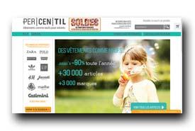 screenshot de www.percentil.fr