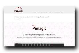 screenshot de www.pikock.com/fr/pimagic.html