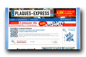 screenshot de www.plaques-express.com