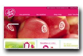 screenshot de www.pomme-pinklady.com