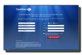 screenshot de www.prereservation.carrefour.fr