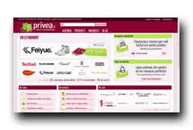 screenshot de www.privea.fr