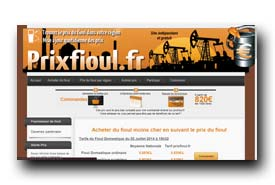 screenshot de www.prixfioul.fr