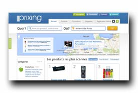 screenshot de www.prixing.com