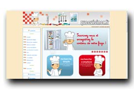 screenshot de www.quecuisiner.fr/Recherche_Simple.html