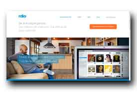 screenshot de www.rdio.com