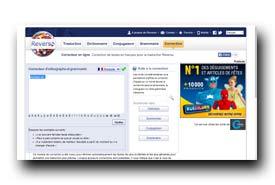 screenshot de www.reverso.net/orthographe/correcteur-francais/