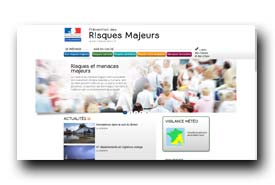screenshot de www.risques.gouv.fr
