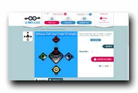 screenshot de www.laporteaclefs.com/fr/porte-clefs/177-retrouve-clefs-objets-perdus-kit-complet--705105770840.html