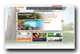 screenshot de www.stihl.fr