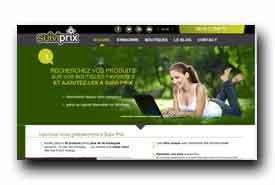screenshot de www.suivi-prix.com