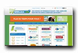 screenshot de www.supermarche-ligne.fr