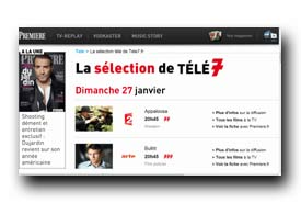 screenshot de www.tele7jours.fr
