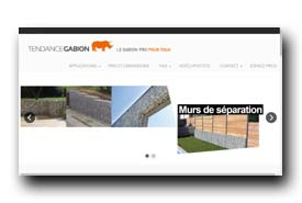 screenshot de www.tendance-gabion.fr