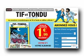 screenshot de www.collection-tifettondu.com