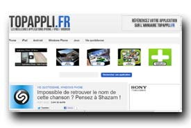 screenshot de www.topappli.fr